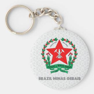 Escudo de armas del Minas Gerais del Brasil Llaveros