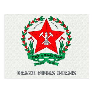 Escudo de armas del Minas Gerais del Brasil Tarjetas Postales
