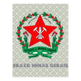 Escudo de armas del Minas Gerais del Brasil Postales