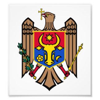 Escudo de armas del Moldavia Fotografias