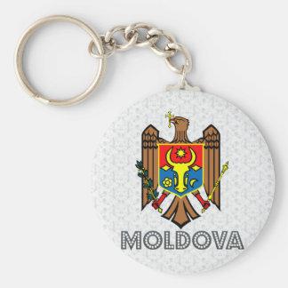 Escudo de armas del Moldavia Llavero Redondo Tipo Pin