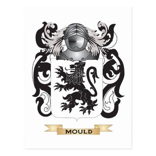 Escudo de armas del molde (escudo de la familia) postales