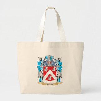 Escudo de armas del monje - escudo de la familia bolsas de mano