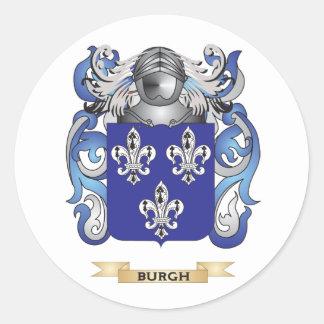 Escudo de armas del municipio escocés (escudo de pegatina redonda