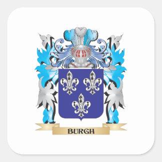 Escudo de armas del municipio escocés calcomania cuadradas