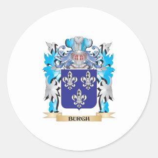 Escudo de armas del municipio escocés pegatina redonda