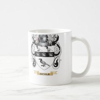 Escudo de armas del níquel (escudo de la familia) tazas de café