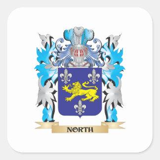Escudo de armas del norte - escudo de la familia pegatina cuadradas