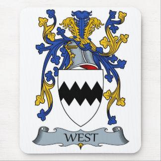escudo de armas del oeste mousepad