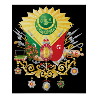 Escudo de armas del otomano impresiones