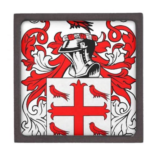 Escudo de armas del pájaro cajas de joyas de calidad