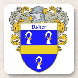 Escudo de armas del panadero/escudo de la familia posavasos de bebidas
