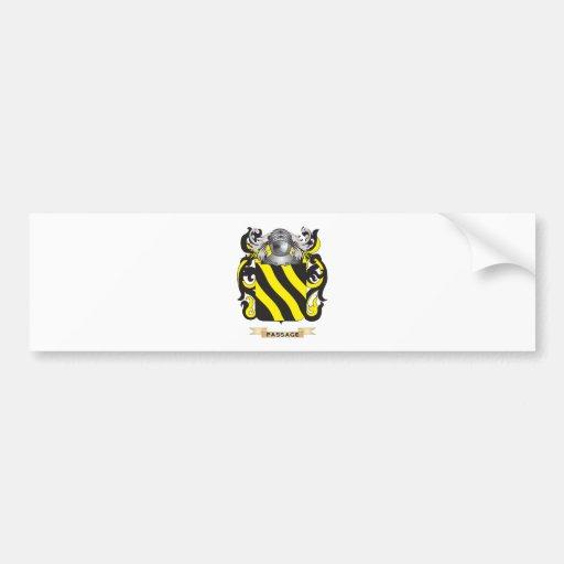 Escudo de armas del paso (escudo de la familia) pegatina para auto
