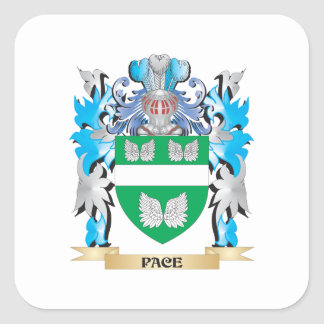 Escudo de armas del paso - escudo de la familia pegatina cuadradas personalizada