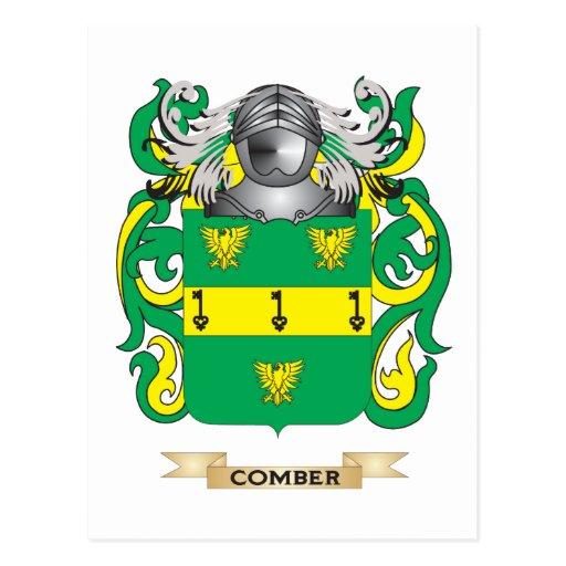 Escudo de armas del peinador tarjeta postal