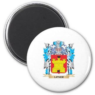 Escudo de armas del perdedor - escudo de la iman de frigorífico