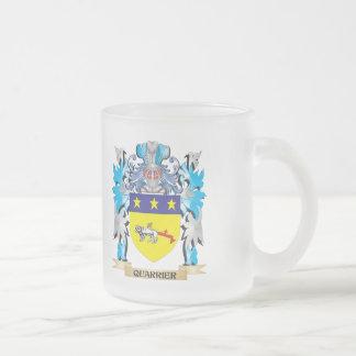 Escudo de armas del picapedrero - escudo de la taza cristal mate