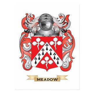 Escudo de armas del prado (escudo de la familia) tarjeta postal