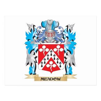 Escudo de armas del prado - escudo de la familia postal