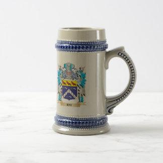 Escudo de armas del rayo - escudo de la familia jarra de cerveza