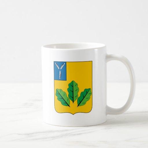 Escudo de armas del rayón de Novoburassky Tazas De Café
