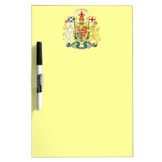 Escudo de armas del Reino Unido en Escocia Pizarras Blancas De Calidad