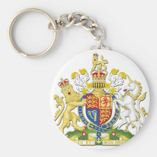 Escudo de armas del Reino Unido Llavero Redondo Tipo Pin