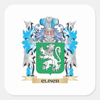 Escudo de armas del remache - escudo de la familia calcomanías cuadradas personalizadas
