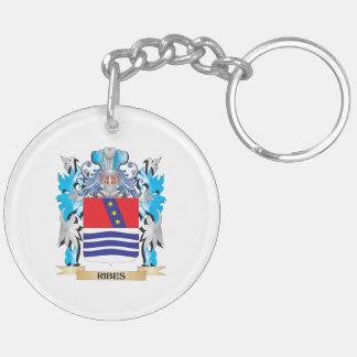 Escudo de armas del Ribes - escudo de la familia Llavero Redondo Acrílico A Doble Cara