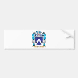 Escudo de armas del robot - escudo de la familia pegatina de parachoque