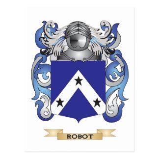 Escudo de armas del robot escudo de la familia tarjeta postal