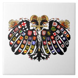 Escudo de armas del Sacro Imperio Romano Azulejo Cuadrado Grande