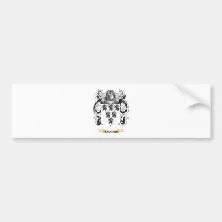 Escudo de armas del salvamento escudo de la famil etiqueta de parachoque