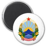 Escudo de armas del SENIOR Macedonia Imán Redondo 5 Cm