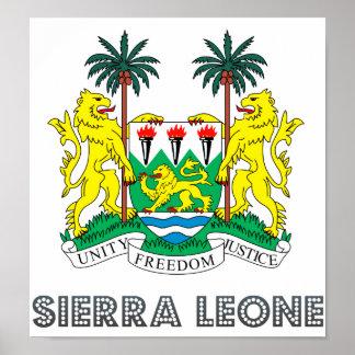 Escudo de armas del Sierra Leone Impresiones