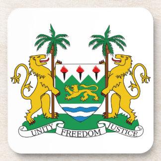 Escudo de armas del Sierra Leone Posavasos De Bebida