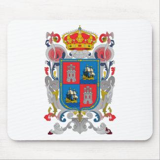 Escudo de armas del símbolo del funcionario de Cam Alfombrillas De Ratones