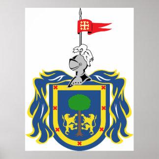 Escudo de armas del símbolo del funcionario de Jal Posters