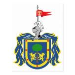 Escudo de armas del símbolo del funcionario de Jal Postales