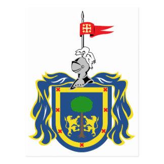 Escudo de armas del símbolo del funcionario de postal