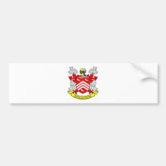 Escudo de armas del SINGLETON Etiqueta De Parachoque