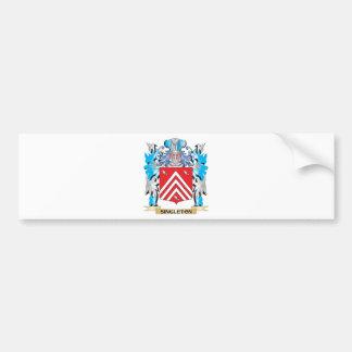 Escudo de armas del Singleton - escudo de la Etiqueta De Parachoque