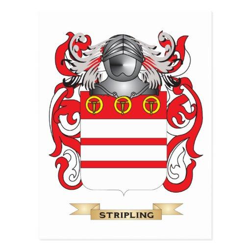 Escudo de armas del Stripling (escudo de la famili Postales