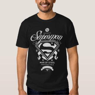 Escudo de armas del superhombre poleras