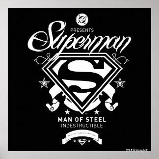 Escudo de armas del superhombre póster