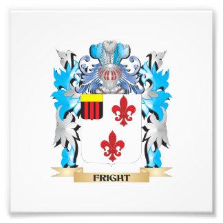 Escudo de armas del susto - escudo de la familia impresión fotográfica