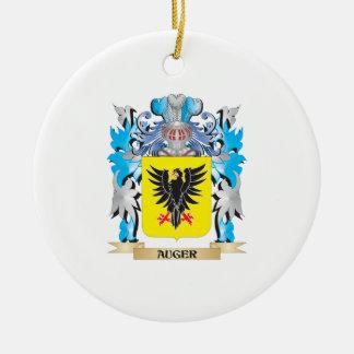 Escudo de armas del taladro adorno redondo de cerámica