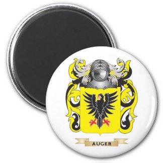 Escudo de armas del taladro (escudo de la familia) imán redondo 5 cm