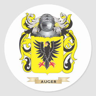 Escudo de armas del taladro (escudo de la familia) pegatina redonda