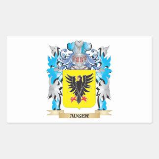Escudo de armas del taladro pegatina rectangular